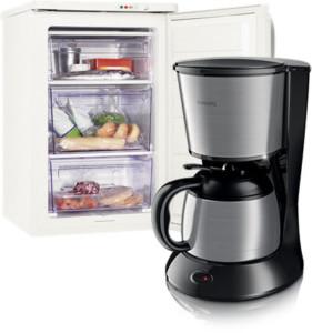 Rosenlew jääkaappi ja Philips kahvinkeitin